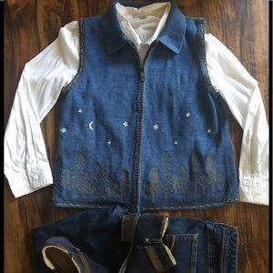 Hand Embroidered Christopher & Banks Vest